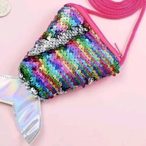 Small Rainbow mermaid purse